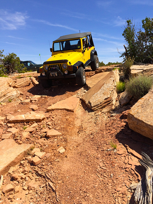 Going 4-wheeling on the trails around Moab, Utah, is a fun sport.