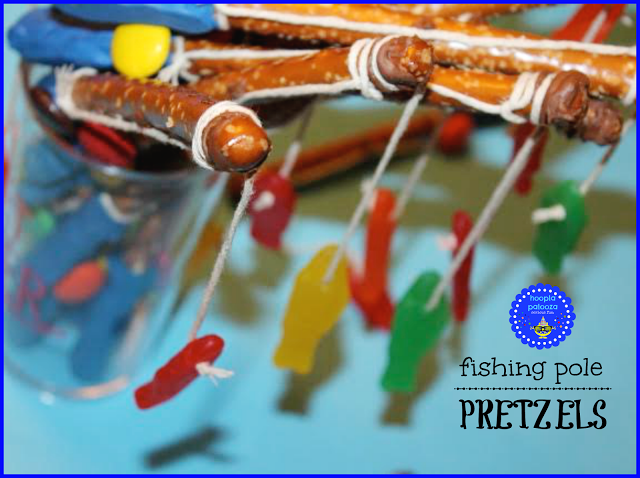 These fishing pole pretzels are delicious AND clever!