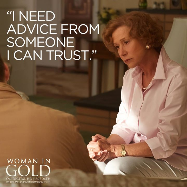 Woman in Gold now out on DVD and Blue Ray!