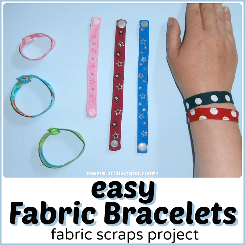 Make these fabric bracelets out of scraps of material. Tweens and teens will love making them.