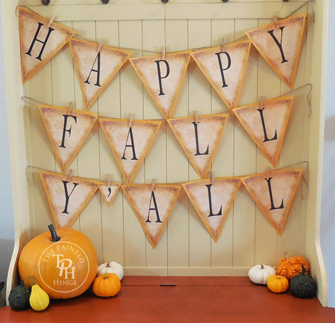 Use the free printable to make this cute fall banner.