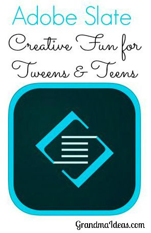 Adobe Slate is a free app that tweens and teens will enjoy using to create visual stories.