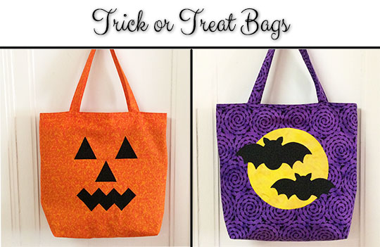 These trick or treat bags are easy to make. The directions come with a free patter for the appliqués.