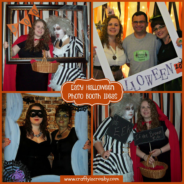 Here are some fun and easy to make photo booth props for your Halloween party.