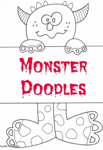Kids will enjoy coloring these monster doodles at your family Halloween party. Free monster printables!