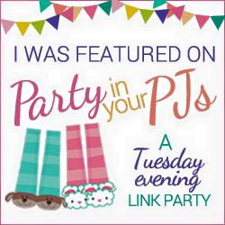 Party in your PJs is a Tuesday evening link party that starts at 7:00 p.m. Mountain daylight time. Come and join in the fun!