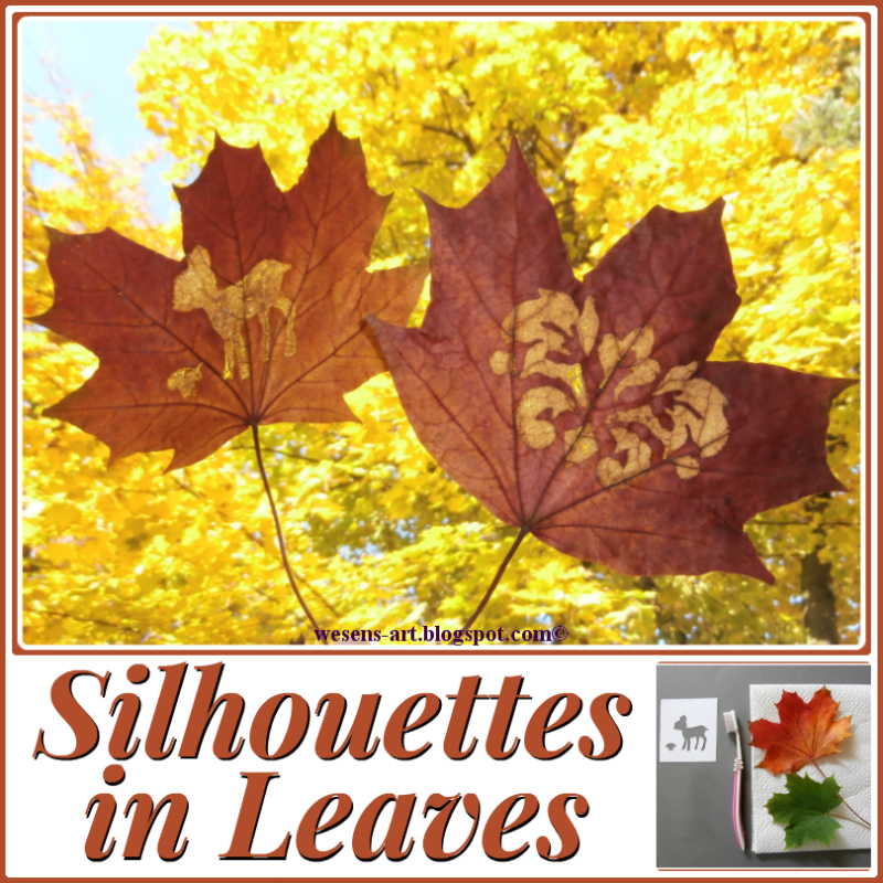 Making silhouettes on leaves is a simple yet fabulous activity for kids to do.