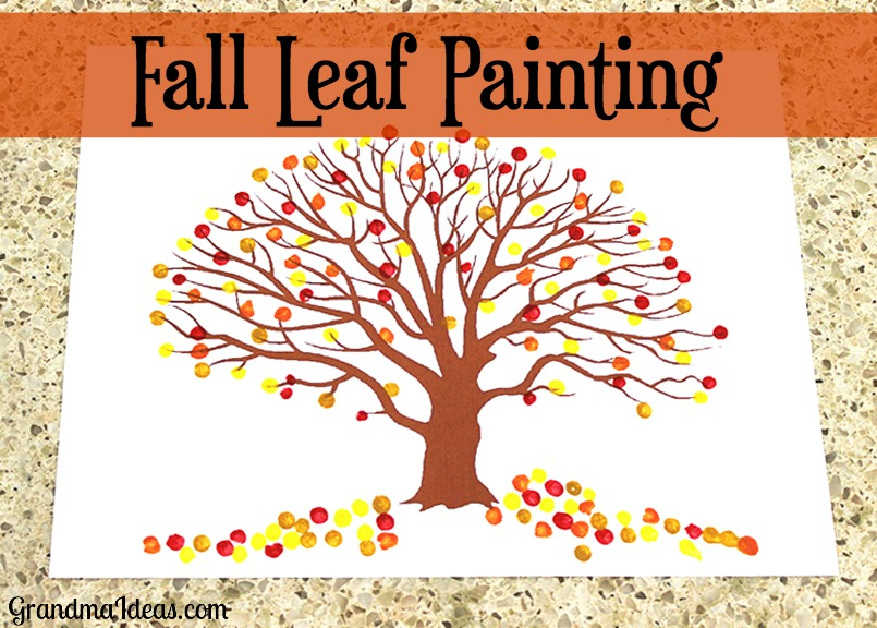 Even Though This Craft Is Extremely Simple Kids Absolutely Love Doing Fall Leaf Painting