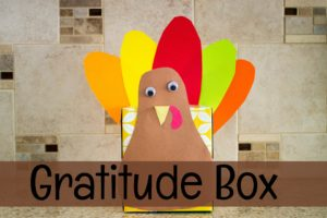 Make this gratitude box. Then everyday before Thanksgiving, have each child write something that they are grateful for and put it in the box. Then, on Thanksgiving day, as a family read the papers and then give thanks for all of your blessings.