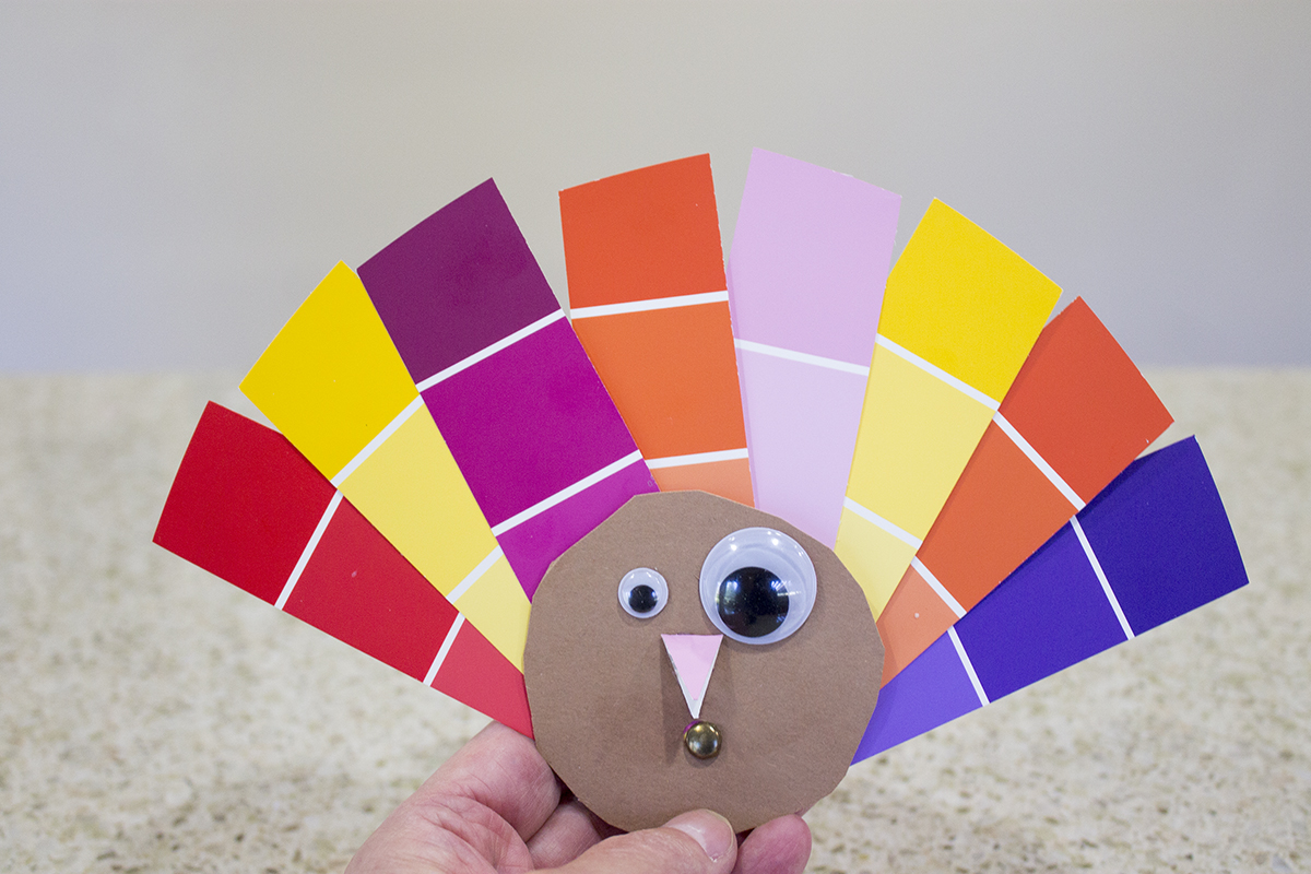 Whip up this simple little turkey in mere minutes and then use it to list the things you are thankful for.