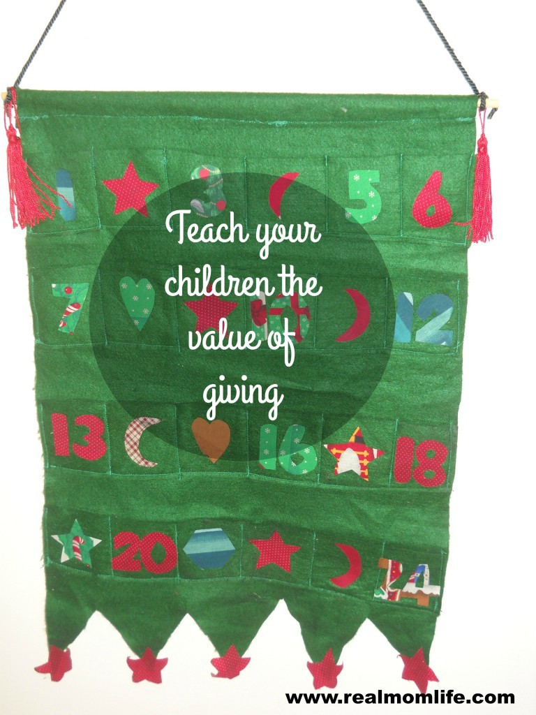 This advent calendar helps parents teach the value of giving to and serving others.