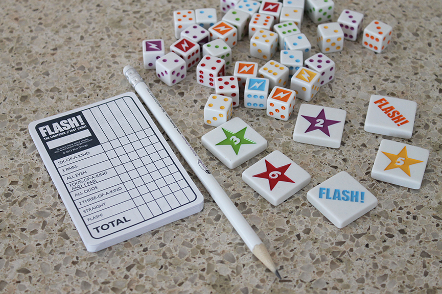 Flash is a fun family game that you can play on New Year's Eve, at Christmas or birthday partys, at family gatherings -- or ANY time!