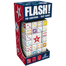 Flash the Lightening Fast Game is a fast-paced game for ages 7 and up. Great to play on New Year's Eve, at Christmas or birthday parties -- or just for fun!