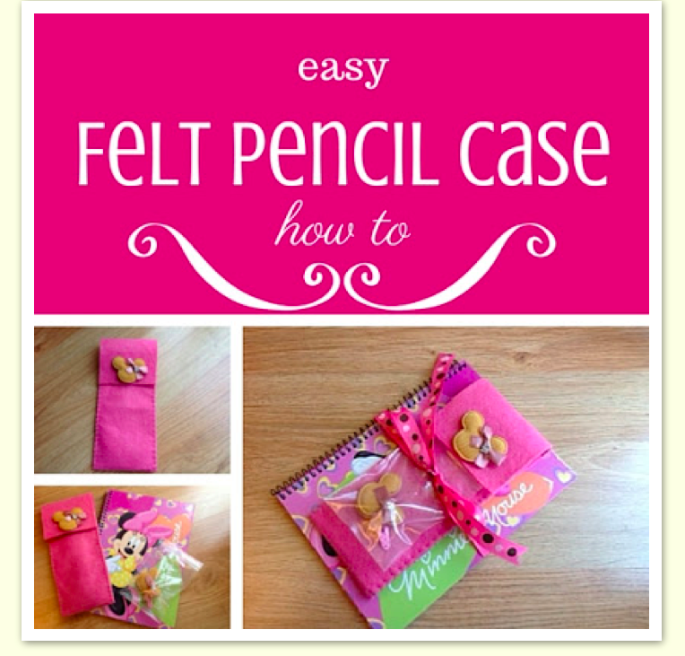 This cute and easy felt pencil case was featured at Party in Your PJs #85 link party.