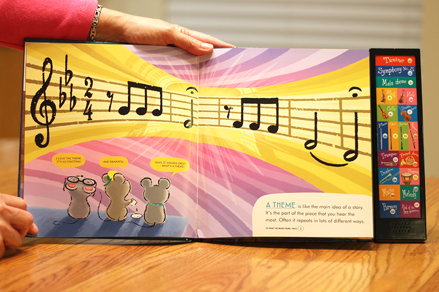Welcome to the Symphony by Carolyn Sloan is a great book that introduces young children to the world of classical music. This interactive book leads them on a musical journey while introducing them to Beethoven's Fifth Symphony. Check it out!