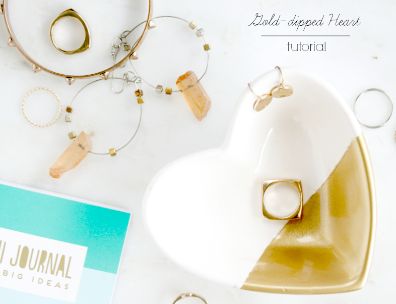 This gold-dipped heart-shaped bowl was featured at Party in Your PJs lilnk party.