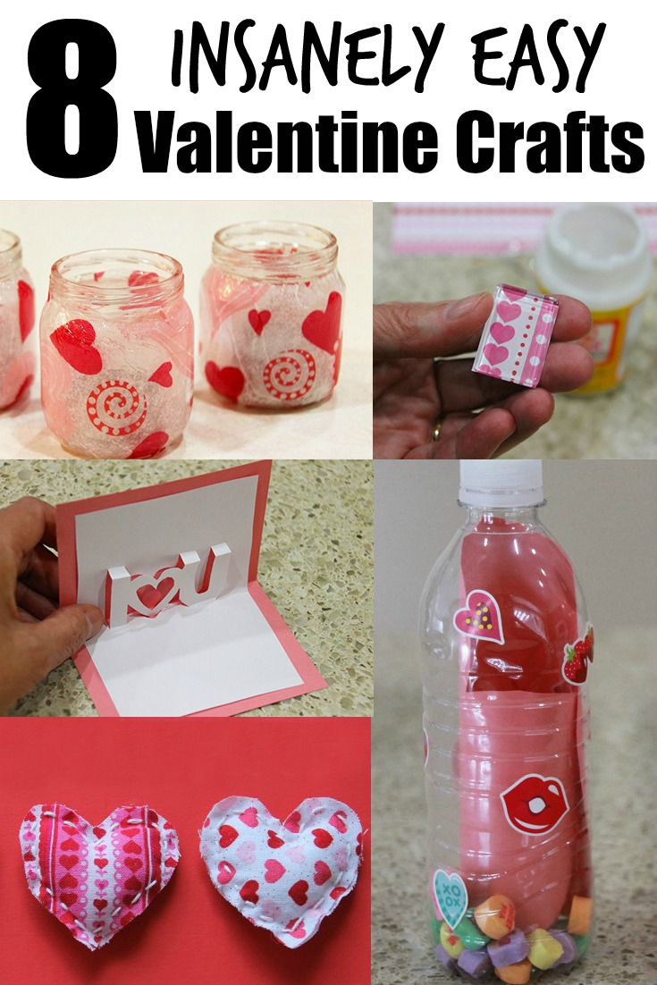 Here are 8 insanely easy Valentine crafts to make with kids.