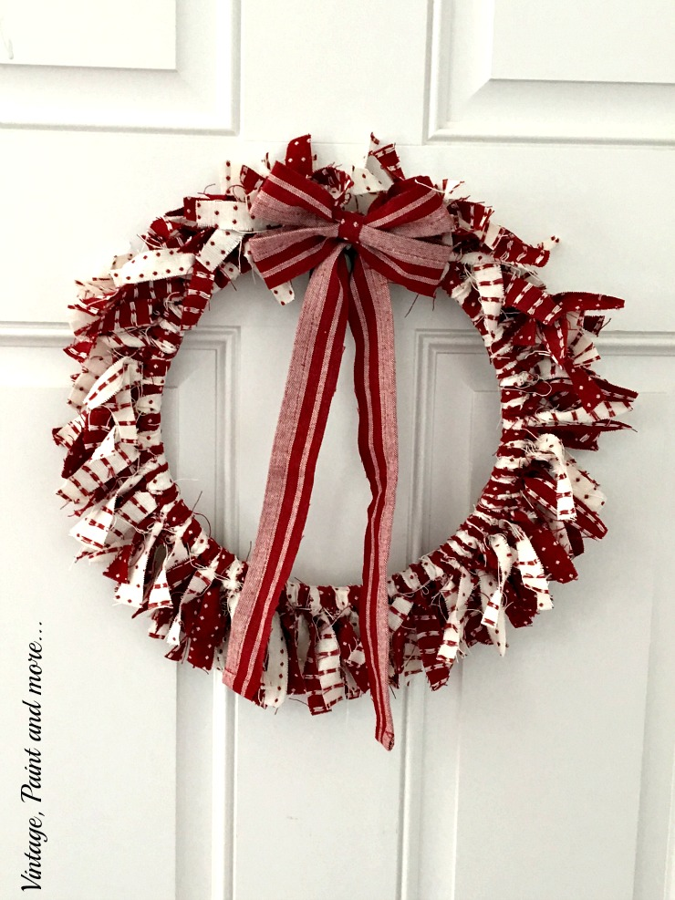 This Valentine's wreath was featured at Party in Your PJs link party.