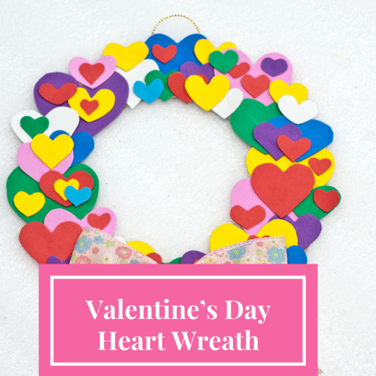 This Valentine wreat is a feature at the Party in Your PJs link party.