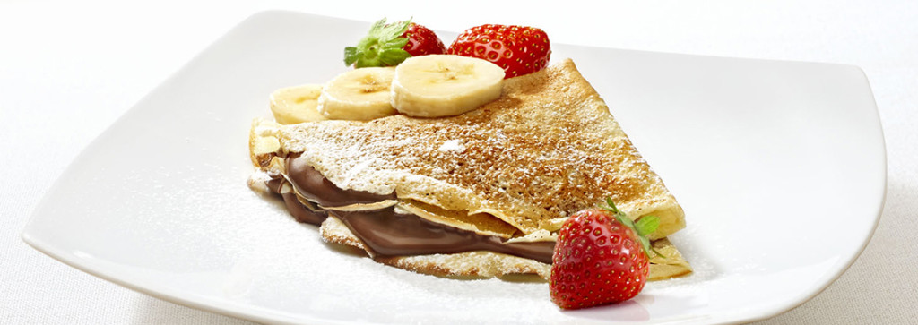 Use this recipe to make crepes served with Nutella.