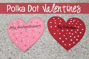 Make these super easy and super fun polka dot Valentines!
