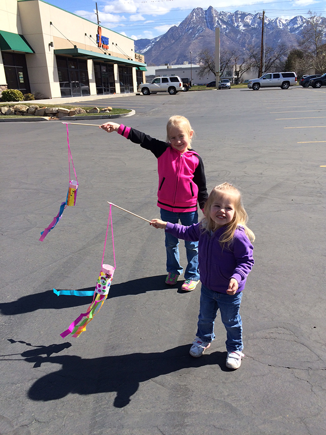 A wind soc is a super easy spring craft for kids to make.