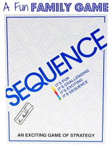 Sequence is a fun family game for kids ages 8 and up. Tweens and teens really love it!