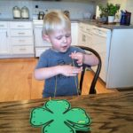 Shamrock Lacing Card