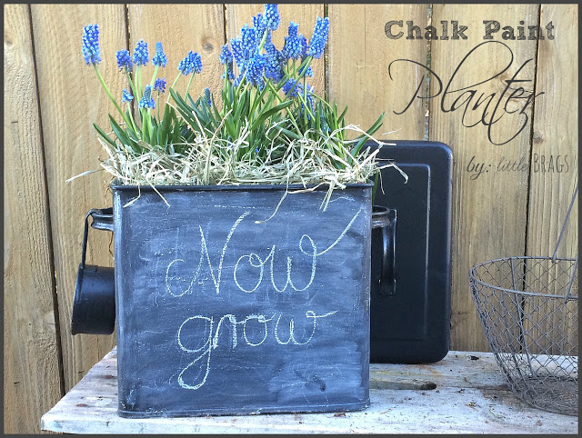 This cute chalk paint craft was featured in Party in Your PJs link party.