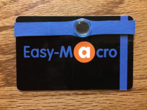 The Easy-Macro lens attaches to your cell phone with an elastic band. It's fun to use and very inexpensive!