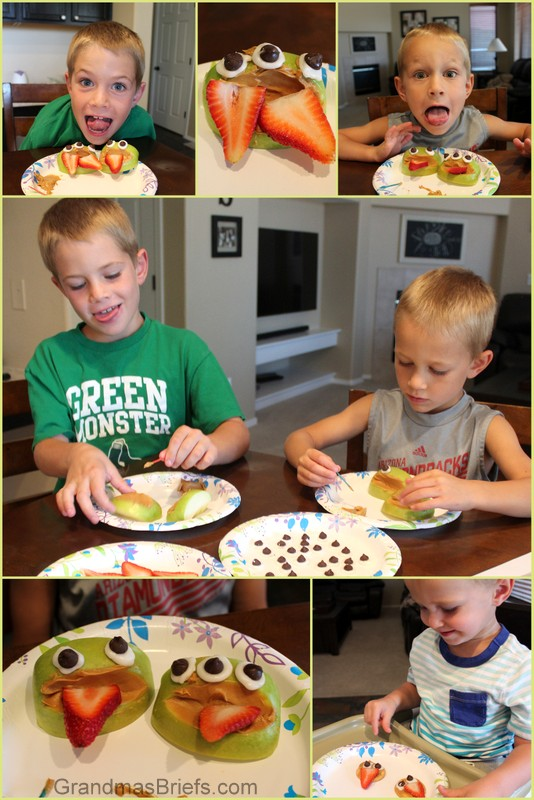 These monster faces snacks are definitely a kid pleaser! Easy to make.