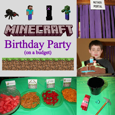 These Minecraft birthday party ideas were shared at the Party in Your PJs link party.