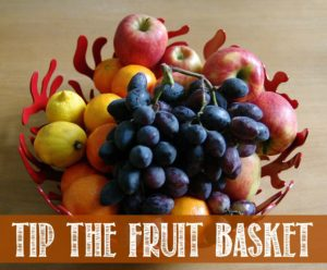 Tip the fruit basket is a fun game for your family to play. Easy to learn and ZERO prep time!