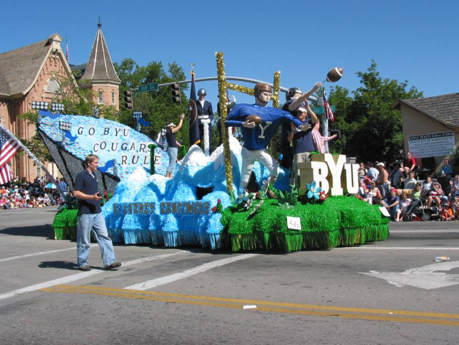 Float at the 4th of July Parade in Provo, Utah