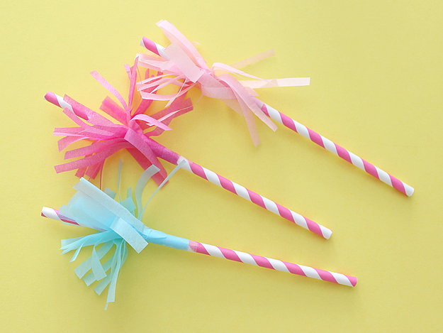 These cute party straws was shared at the Party in Your PJs link party.
