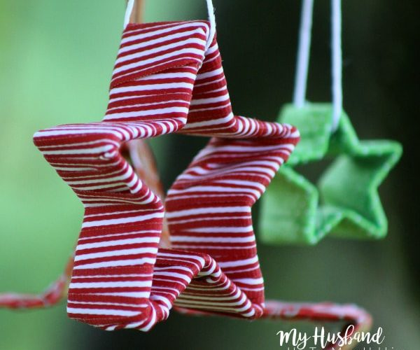 This ribbon wrapped cookie cutter craft was shared at the Party in Your PJs link party.