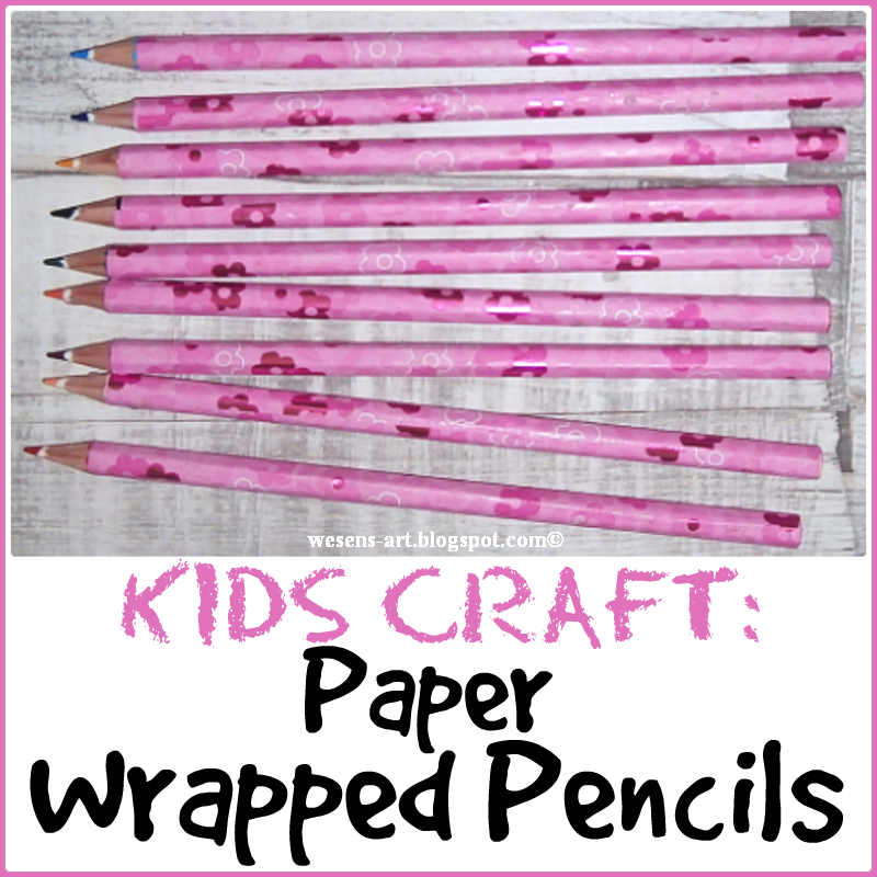 These paper wrapped pencils were featured at Party in Your PJs link party.