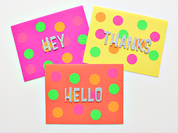 These homemade greeting cards are so easy to make that kids will want to make a whole bunch!