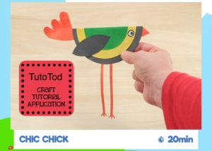 TutoTod is a craft application that gives directions and pictures of crafts to make using only 3 supplies and 3 tools. Great crafts for young kids.