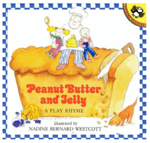 Peanut Butter and Jelly by Nadine Bernard Westcott is a great children's picture book. Here is a song and some actions to go along with it. It's super easy to sing and remember -- and kids love it!