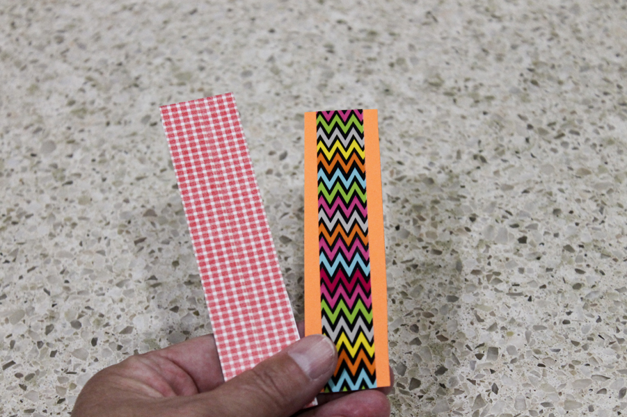 Make these simple bookmarks with your sons. They'll have fun making them.