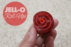 Kids love eating and making these fun Jell-O rollups!