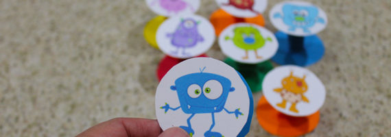 """These monster pop-ups are super easy to make. Free printable."