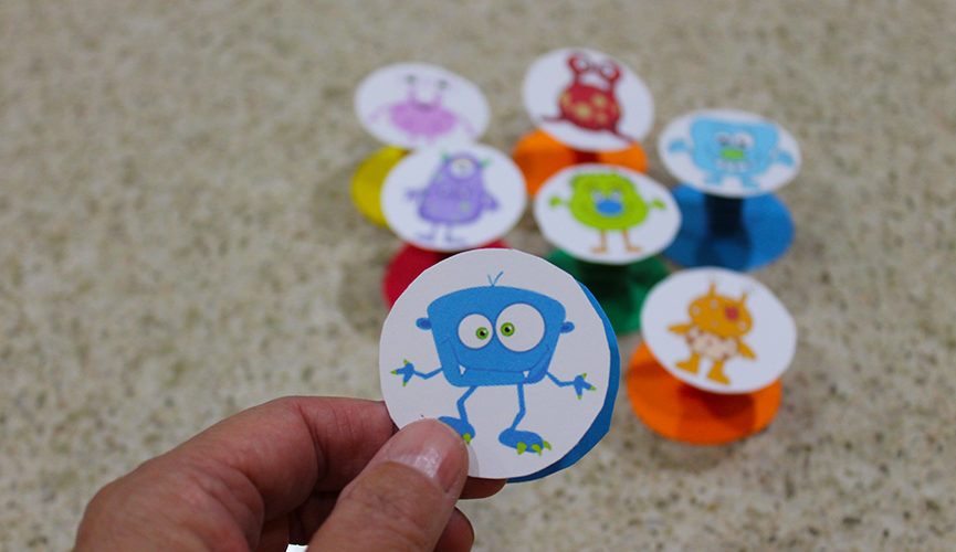 """""""These monster pop-ups are super easy to make. Free printable."""