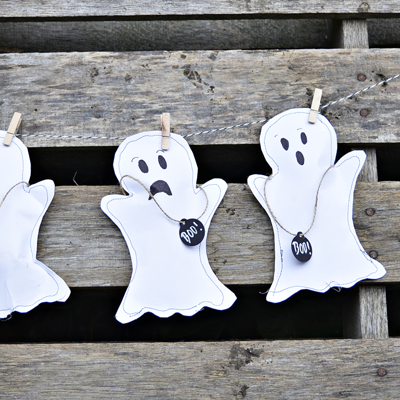 These Halloween treat bags were featured at Party in Your PJs link party.