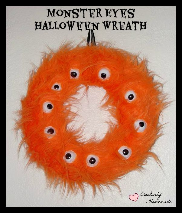This wreath was featured at the Party in Your PJs link party.