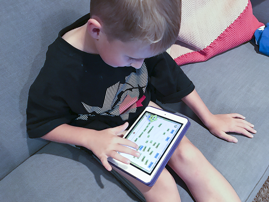 The Sight Words app for the iPad or iPhone is a great way for kids to practice and learn their reading site words.