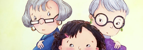 The children's book Chicken Soup, Chicken Soup is a clever book that deals with a granddaughter caught between two grandmothers and their family traditions.