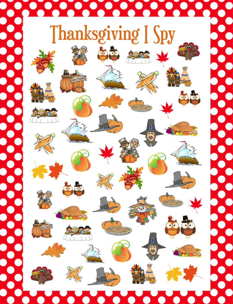 Juicy image within i spy games printable