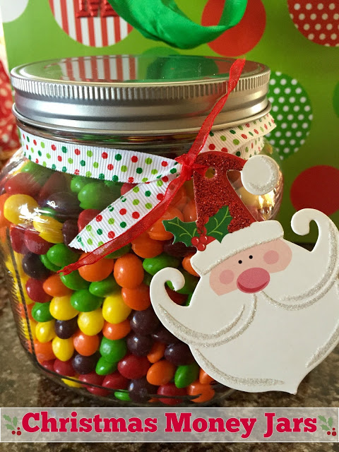 This candy money jar was featured on Party in Your PJs link party.